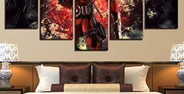 HD Print Painting Modular Pictures Canvas 5 Panel Movie Character Posters Wall Art Home Decor Modern